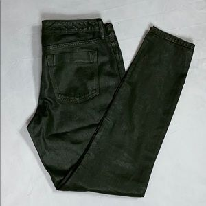 Banana Republic Olive Green Color Wax Skinny Jeans